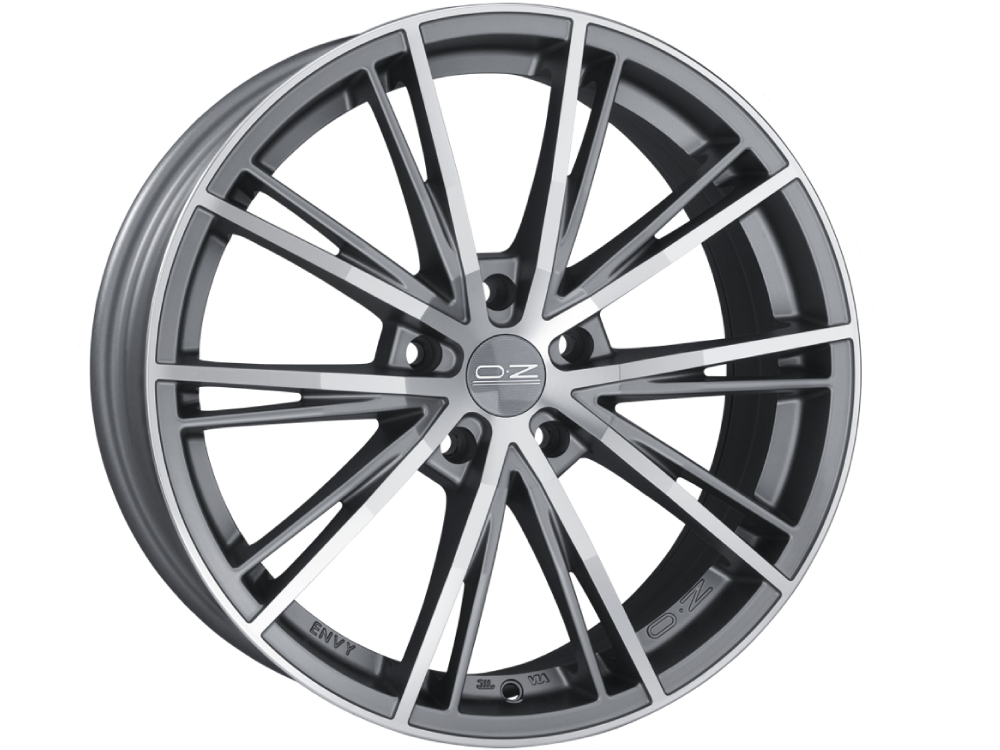 OZ RACING Envy MSTDC hliníkové disky 7,5x16 5x108 ET45 MATT SILVER TECH DIAMOND CUT