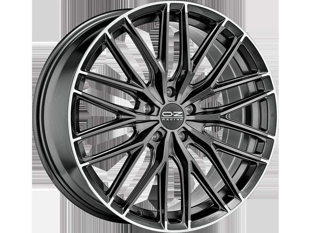 OZ RACING Gran Turismo HLT SGDL hliníkové disky 10x20 5x112 ET47 STAR GRAPHITE DIAMOND LIP