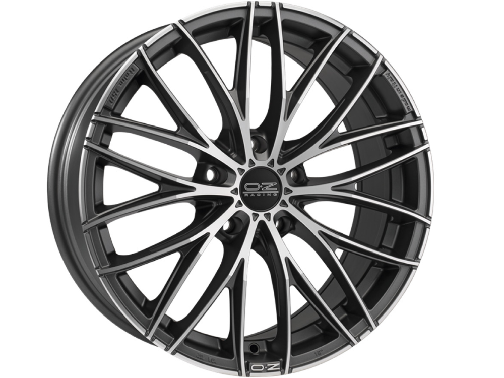 OZ RACING Italia MGDC hliníkové disky 7x17 5x100 ET48 MATT DARK GRAPHITE DIAMOND CUT