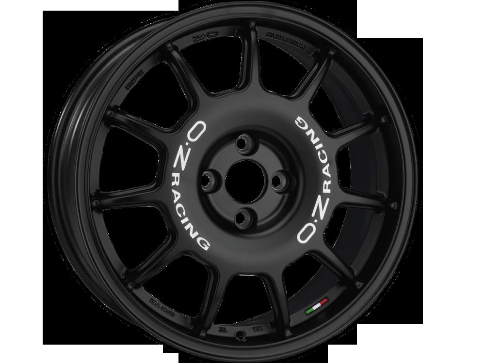 OZ RACING Leggenda MB hliníkové disky 7x17 4x100 ET37 MATT BLACK WHITE LETTERING