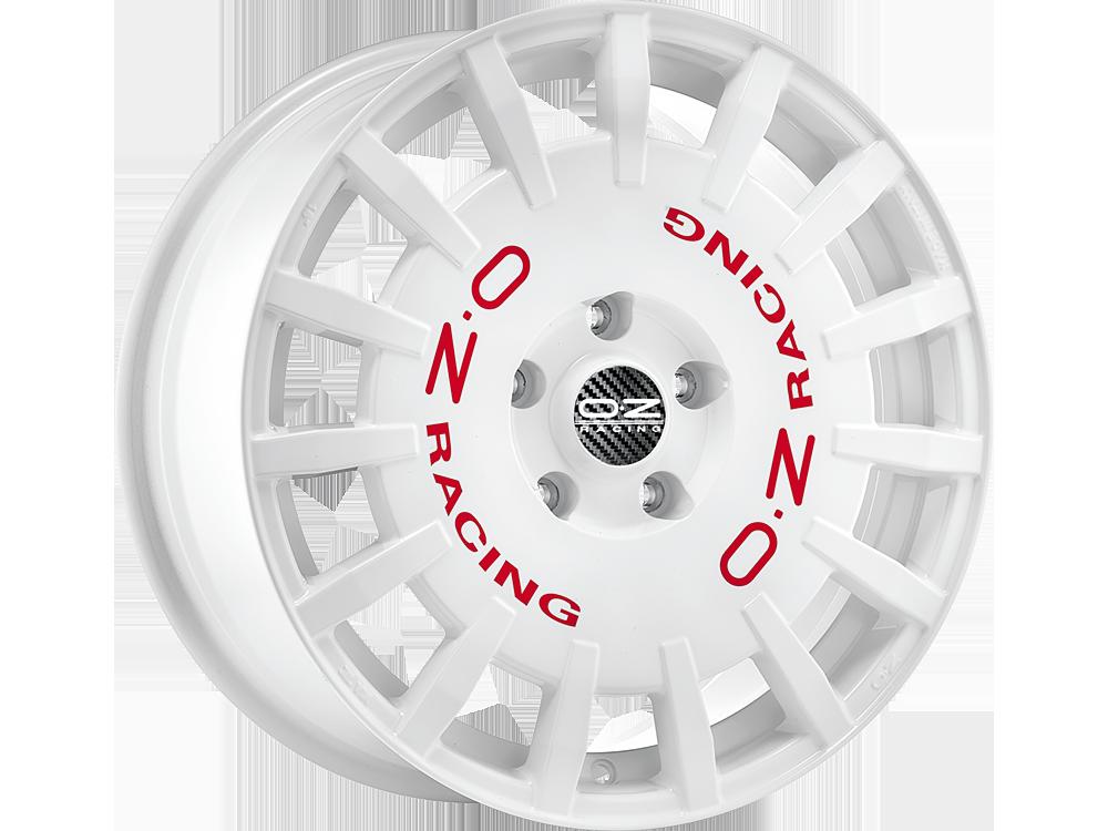 OZ RACING Rally Racing W hliníkové disky 7x17 4x98 ET35 RACE WHITE RED LETTERING