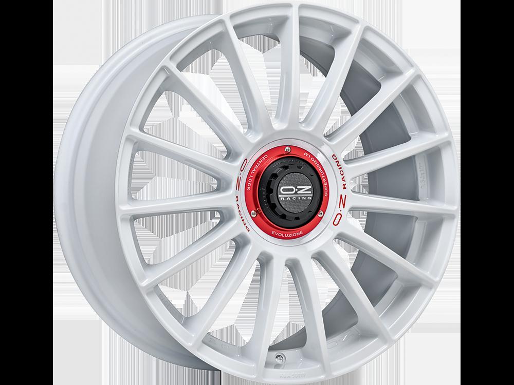 OZ RACING Superturismo Evo WRC hliníkové disky 8,5x19 5x108 ET45 RACE WHITE RED LETTERING