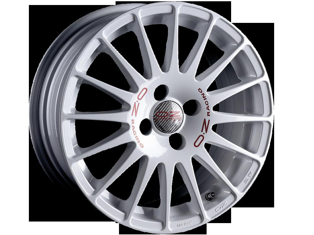 OZ RACING Superturismo WRC hliníkové disky 7x17 4x108 ET25 WHITE RED LETTERING