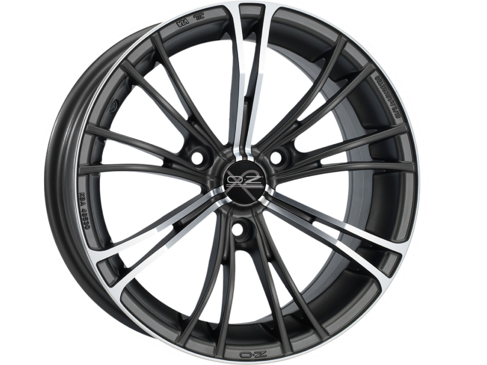 OZ RACING X2 MGMFP hliníkové disky 5,5x15 3x112 ET30 MATT GUN METAL FULL POLISHED (MGMFP)