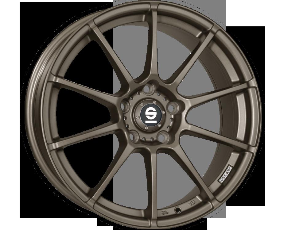 SPARCO Assetto Gara MBZ hliníkové disky 6,5x15 4x100 ET37 MATT BRONZE